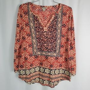 Lucky Brand Boho Philippians Knit Top